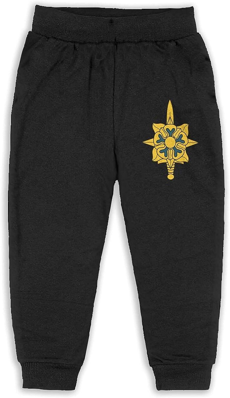 Thtfhe Unisex Kids Military Intelligence Us Army Logo Jogger Pants Cotton Hip Hop Pants Soft Pants for Child