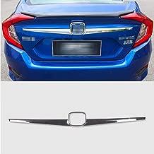 Rqing For Honda Civic 10th 2016 2017 2018 2019 Chrome Rear Trunk Lid Tail Gate Cover Trim