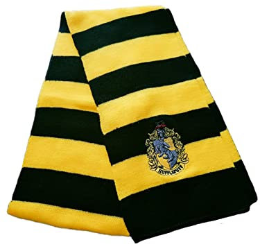 Moniku Men's Hufflepuff Gryffindor Slytherin Ravenclaw Cosplay Trench Knitted Wool Scarf