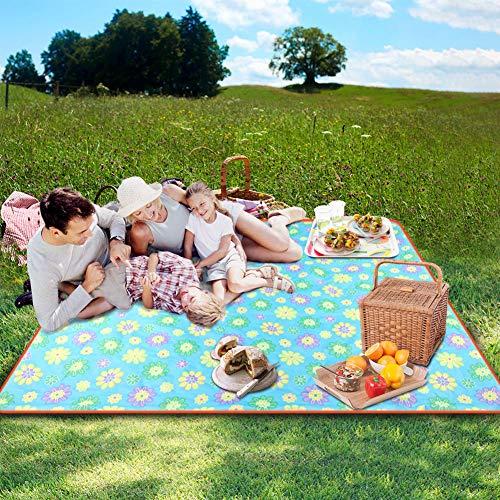 SKYSPER Picknickdecke Wasserdicht Stranddecke isolierte Picknickmatte Ultraleicht Sandfrei Campingdecke Outdoor Decke Weich Tragbar für Outdoor Reisen und Camping