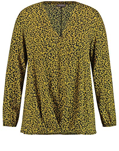 Samoon Damen 360207-21413 Bluse, Mehrfarbig (Black Gemustert 1102), (Herstellergröße: 46)