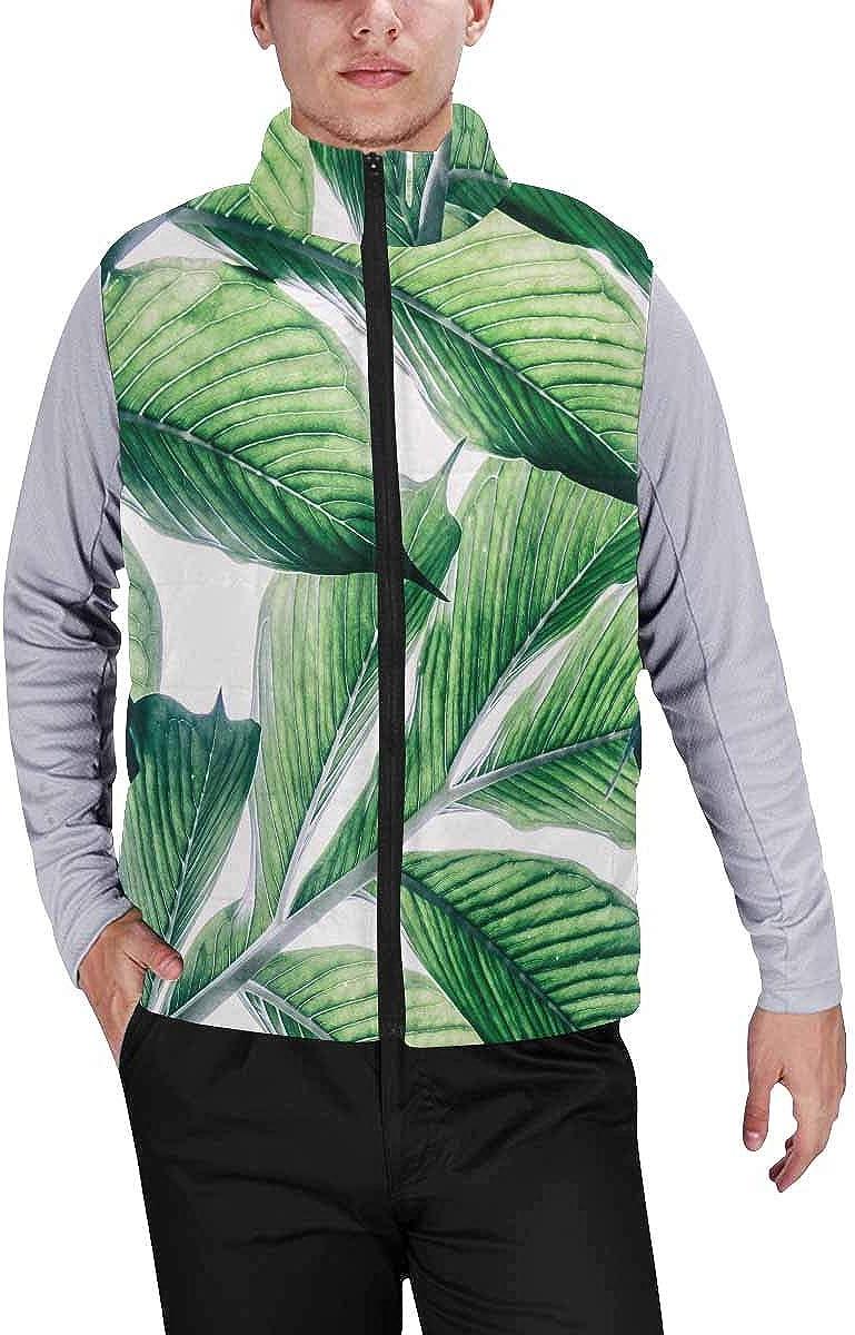 InterestPrint Men's Breathable Sleeveless Coat for Climbing Gray Chevrons on White