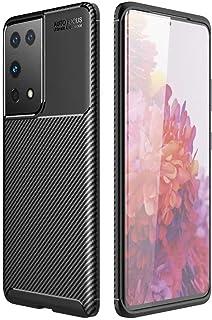 Dalchen for OPPO Reno 4 SE Carbon Fiber Ultra Slim Case, Silicone Soft TPU Minimalist Shockproof Protective Cover in Blac...