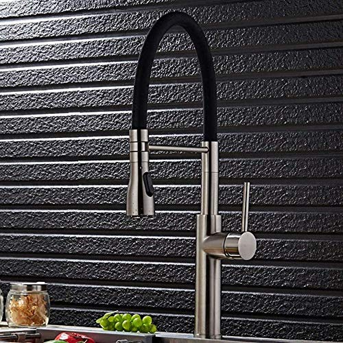 Grifos de fregadero de cocina Rociador extensible universal Dibujo moderno Caño giratorio de una mano Mezclador de agua fría y caliente Grifo de cocina
