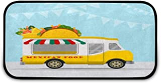 Tapis de sol pour repas mexicains - Facile à nettoyer - Antidérapant - Pour porte d'entrée, garage, cuisine, salle de bain...