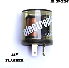 12V Electronic Turn Signal Flasher Relay - LED - 2 Prong - Round Style-2 pin flasher relay