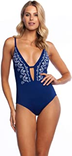 Women's V-Front Keyhole One Piece Swimsuit