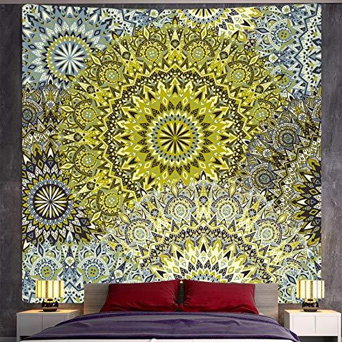 KHKJ Tapiz de Mandala Indio Tapiz de Pared de brujería decoración del hogar Bohemio Hippie, colchón de Escena psicodélica A8 230 * 180 cm