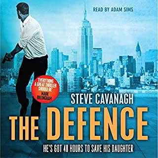 The Defence                   By:                                                                                                                                 Steve Cavanagh                               Narrated by:                                                                                                                                 Adam Sims                      Length: 10 hrs and 42 mins     346 ratings     Overall 4.5