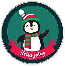 Yaya Cafe™ Christmas Gifts, Printed Holly Jolly Penguin Fridge Magnets - Round