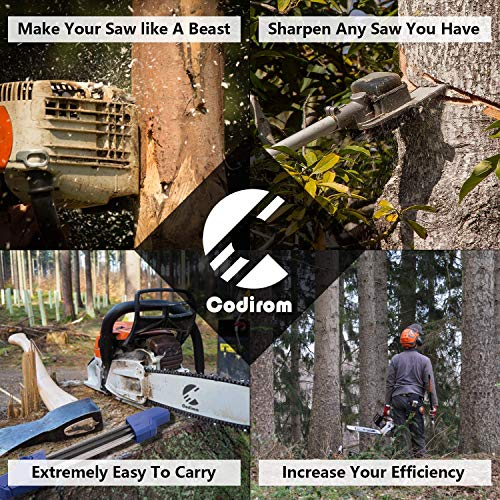 Codirom Chainsaw Sharpener 2 in 1 Easy File Sharpener .325 3/8 3/8P (3/8, 13/64)
