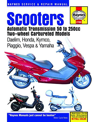 Scooters Service and Repair Manual: Automatic Transmission, 50 to 250cc Two-Wheel, Carbureted Models