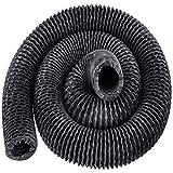 Frantools Gaine de ventilation Flexible Longeur de 25po/7.6M Gaine flexible Diamètre de 4 po Tuyau d'évacuation Climatisation Sèche-linge Pour extracteur d'air