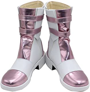Serah Farron Pink Short Halloween Cosplay Shoes Boots X002
