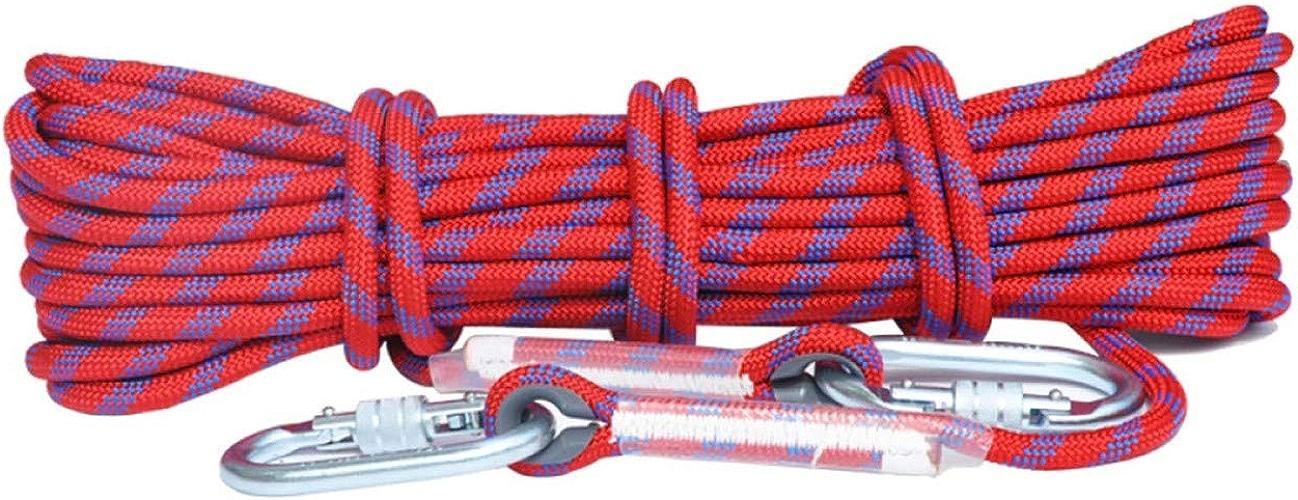 ZAIYI-Climbing rope Alpinisme Aventure en Plein Air Camping Sécurité Sauvetage Corde Antidérapante 10,5   12mm,rouge-40m12mm