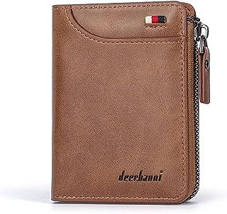 BeniMen's wallet short wraps multi-card zipper new-Light coffee