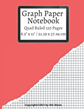 """Graph Paper Notebook / 120 Pages / Quad Ruled 5x5 / Large, 8.5"""" x 11"""": Grid Paper Composition, Math and Science Compositio..."""