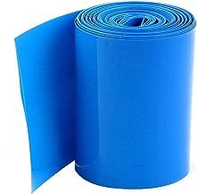 YXQ 5M 64mm Flat 64mm Dia PVC Heat Shrink Tube Tubing Wrap for AA Battery Blue