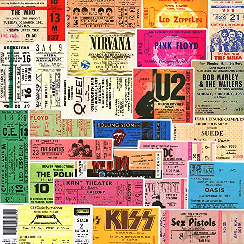 HENJIA Vintage Beatles Rock Band Ticket Etiqueta de Equipaje Notebook Skateboard Guitar Sticker