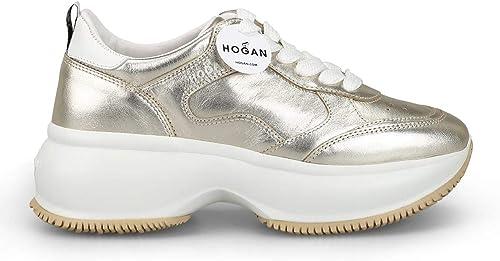 Hogan Damen HXW4350BN50I812917 Gold Leder Turnschuhe