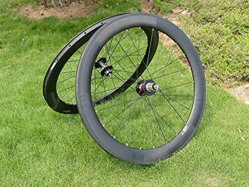 Full Carbon 3K Matt Rennrad Drahtreifen Felge 60mm Basalt Bremse Seite Breite 25mm Toray Carbon Laufradsatz für Shimano 8/9/10/11s