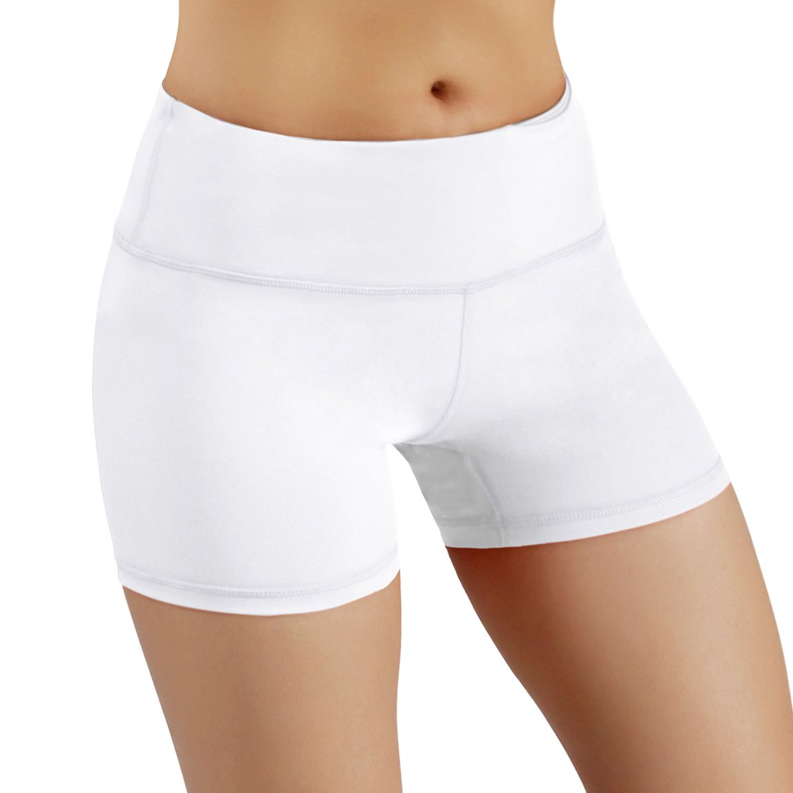 ODODOS Womens Yoga Short Tummy Control Workout Running Athletic Non See-Through Yoga Shorts with Hidden Pocket