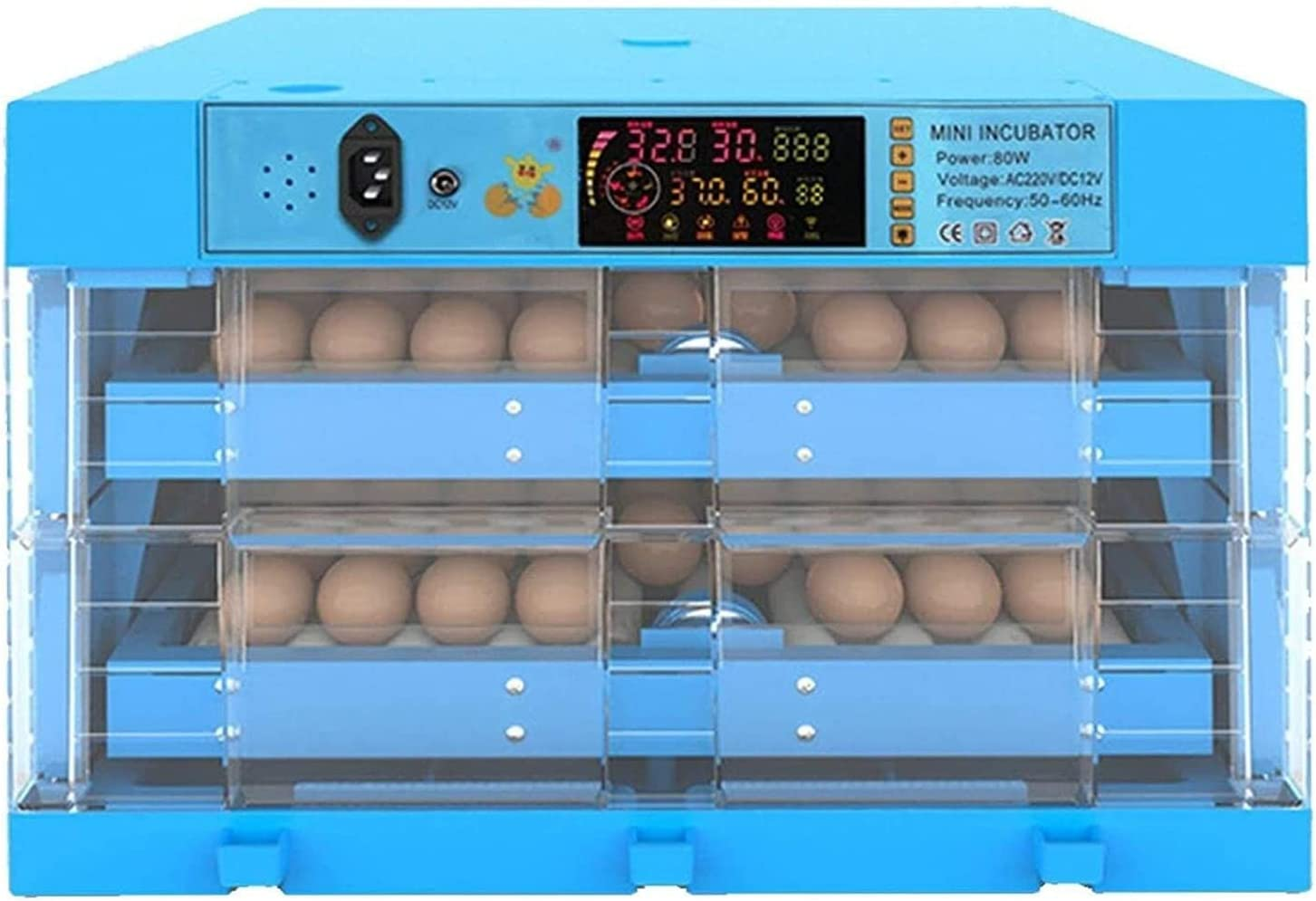 WENZHE 128 Eggs Incubator Automatic Large Import Complete Free Shipping Turning Hatche Poultry