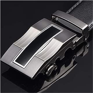 Men Belt Genuine leather Strap Belts for Men Automatic Buckle Black Belts Cummerbunds
