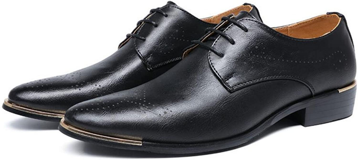 GAOLIXIA Men's Pointed Business Leather shoes Formal Dress shoes Wedding Party shoes Work Professional shoes Bullock shoes Outdoor Casual shoes