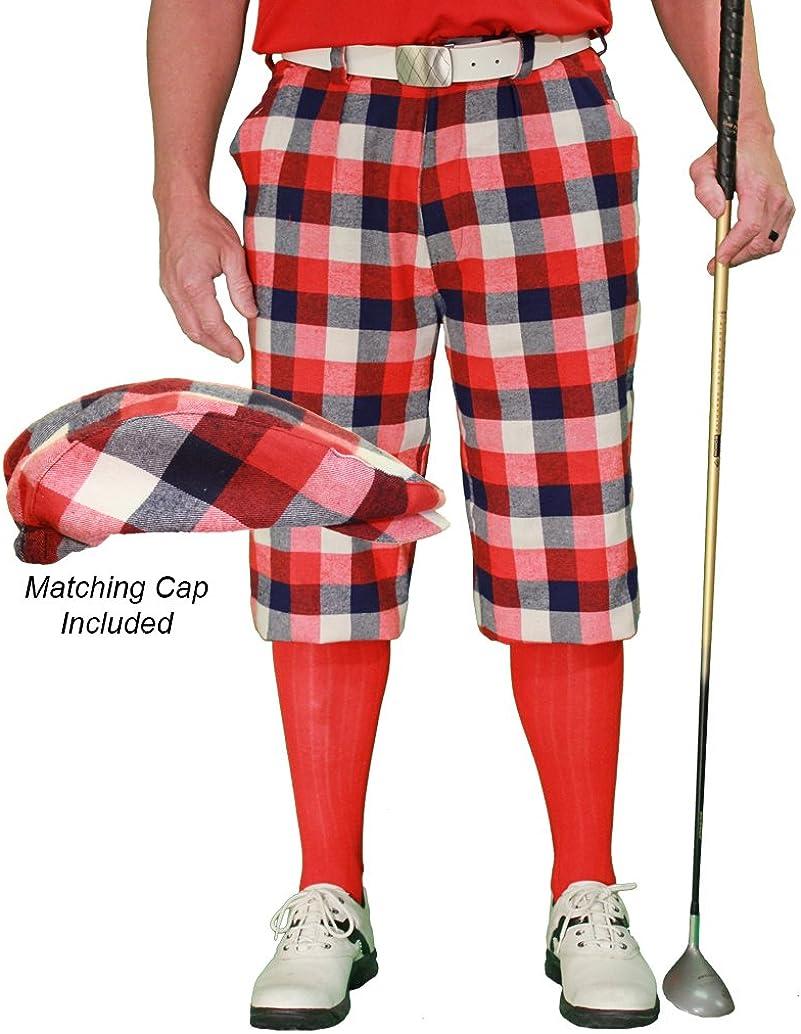 Max 59% OFF San Diego Mall Golf Knickers Plaid and Cap: Mens 5' 'Par Forfar -