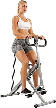 Sunny Health & Fitness Squat Assist Row-N-Ride Trainer for Squat Exercise and Glutes Workout with Included Equipment Instructional and Training Videos