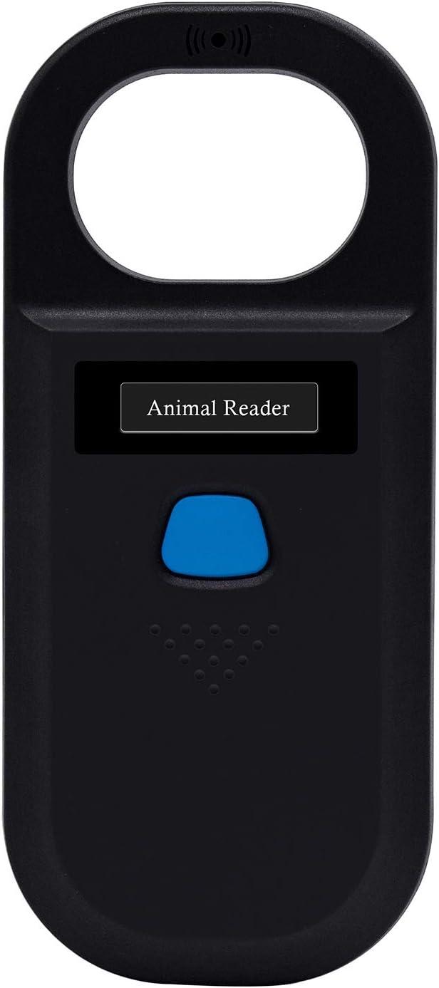 Animal(Pet) Microchip Reader Scanner, Handheld Animal Chip Reader Portable LED RFID Reader Support FDX-B (ISO11784 / 11785)