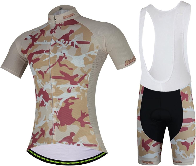 Aogda Cycling Jerseys Men Biking Bike Shirts Bicycle Shorts Clothing