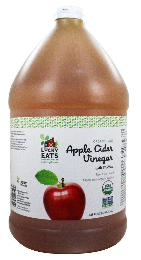 LuckyEats - Organic Raw Apple Cider Vinegar with Mother by LuckyVitamin - 128 fl. oz.