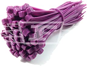 100 x CABLE TIES (Pick Your Colour) / TIE WRAPS / ZIP TIES, 2.5mm x 100mm + FREE UK DELIVERY (Purple)