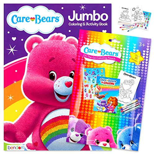 Care Bears Coloring Book Pack Bundle Includes Stickers, Crayons, and Care Bears Activity Book for Kids (Cheer Bear)