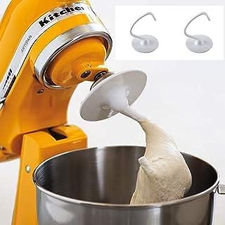 Crochet à Pâte|pétrisseur Pour KitchenAid K45DH, Crochet à Pâtisserie Rechange En Forme De C Métal Revêtu Accessoires Robo...