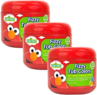 Sesame Street, Fizzy Tub Colors, 50 ct, Pack of 3