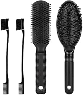 Dreamlover 4 in 1 Wig Comb Hair Brush Set with Wig Hair Edge Brushes, Detangle Hair Brush for Natural Hair, Wigs, Synthetic Hair Extension