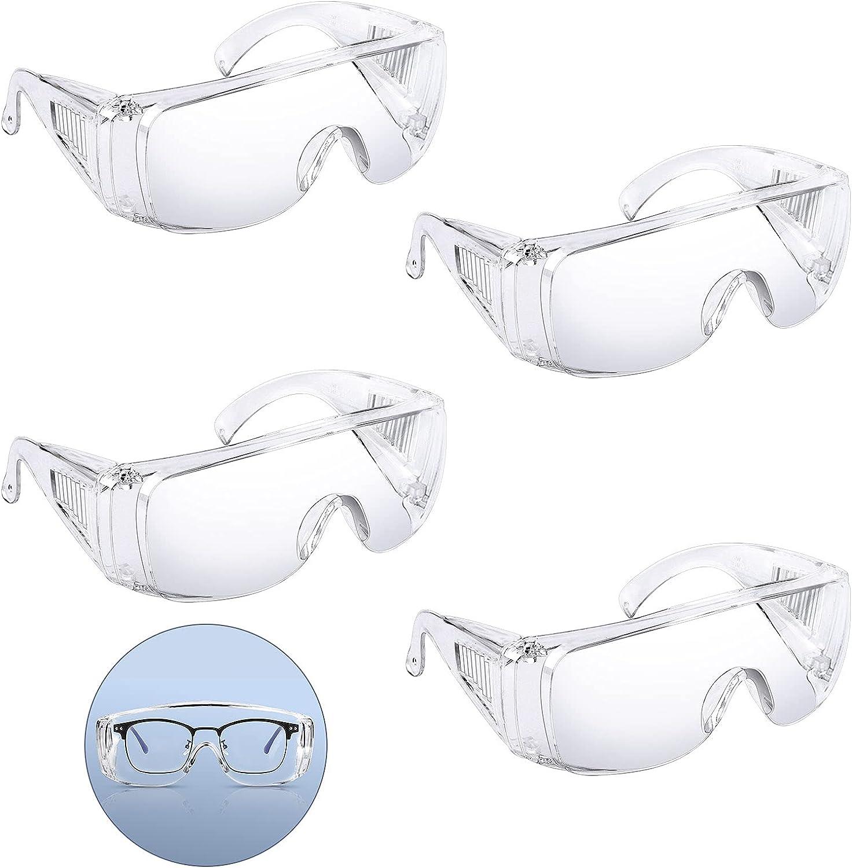 Johiux 4 Par Gafas Proteccion,Anti Niebla Gafas Seguridad,Gafas de Proteccion Trabajo,Gafas Laboratorio,Gafas Protectoras