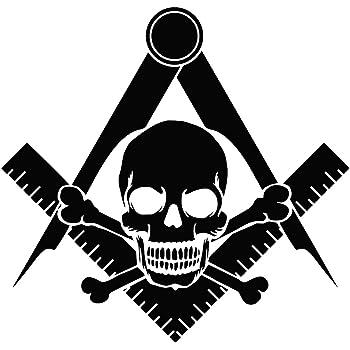 5 Tall The Masonic Exchange TME-EMB-B-00020 Widows Son Square /& Compass Masonic Bumper Sticker