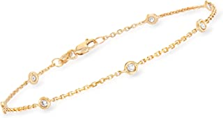 0.20 ct. t.w. Bezel-Set Diamond Station Bracelet in 14kt Yellow Gold