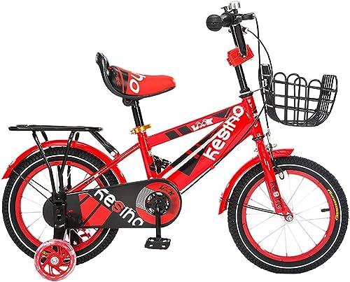 Tu satisfacción es nuestro objetivo GAIQIN Durable Bicicleta para Niños Adecuada para Niños Niños Niños y niñas de 4 a 10 años de Edad, Manos frenadas, operación Segura (con Cesta y Asiento Trasero) (Color   rojo, Tamaño   12inch)  comprar mejor
