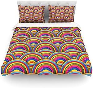 KESS InHouse Danny Ivan Rainbows Multicolor Cotton Duvet Cover, 88 by 104-Inch