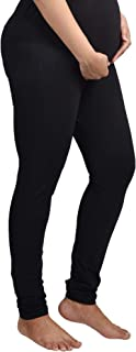 Mommy Cuddle Over-The-Belly Maternity Leggings for Pregnant Women | Maternity Pants for Pregnancy | Stretchable | Cotton + Spandex
