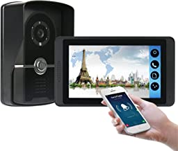 Wifi Video Deurbel, 7 Inch Video Deurtelefoon Beveiliging Surveillance Kit, Intercom, Nachtzicht Camera, Monitor APP Unlock