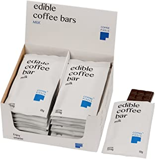Coffee Pixels Organic Edible Coffee Bars (Milk, 20)