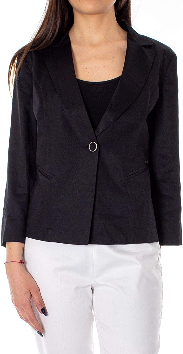 Akè Women's F646XAHG1141BLACK Black Cotton Blazer