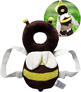 Baby Toddlers Head Protective, Adjustable Infant Safety Pads for Baby Walkers Protective Head and Shoulder Protector Prevent Head Injured Suitable Age 4-24 Months,Cute Ladybug (Yellow +White)