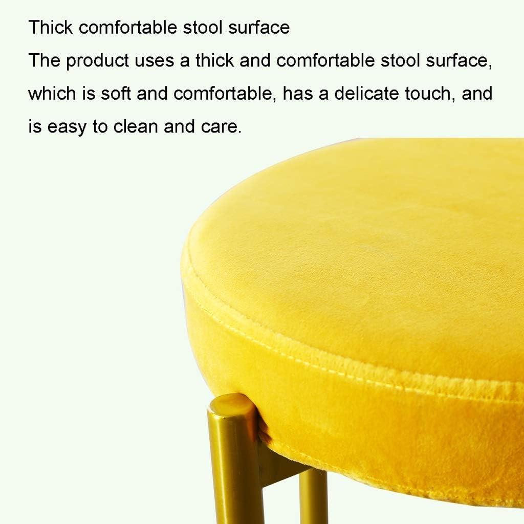 Tabouret ronde maison Nordic Light Luxe Petit Banc Chaise simple Table à manger Tabouret Simple Restaurant Stacking (Color : L) R
